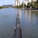 アラワイ運河の非常用下水管バイパス工事は順調